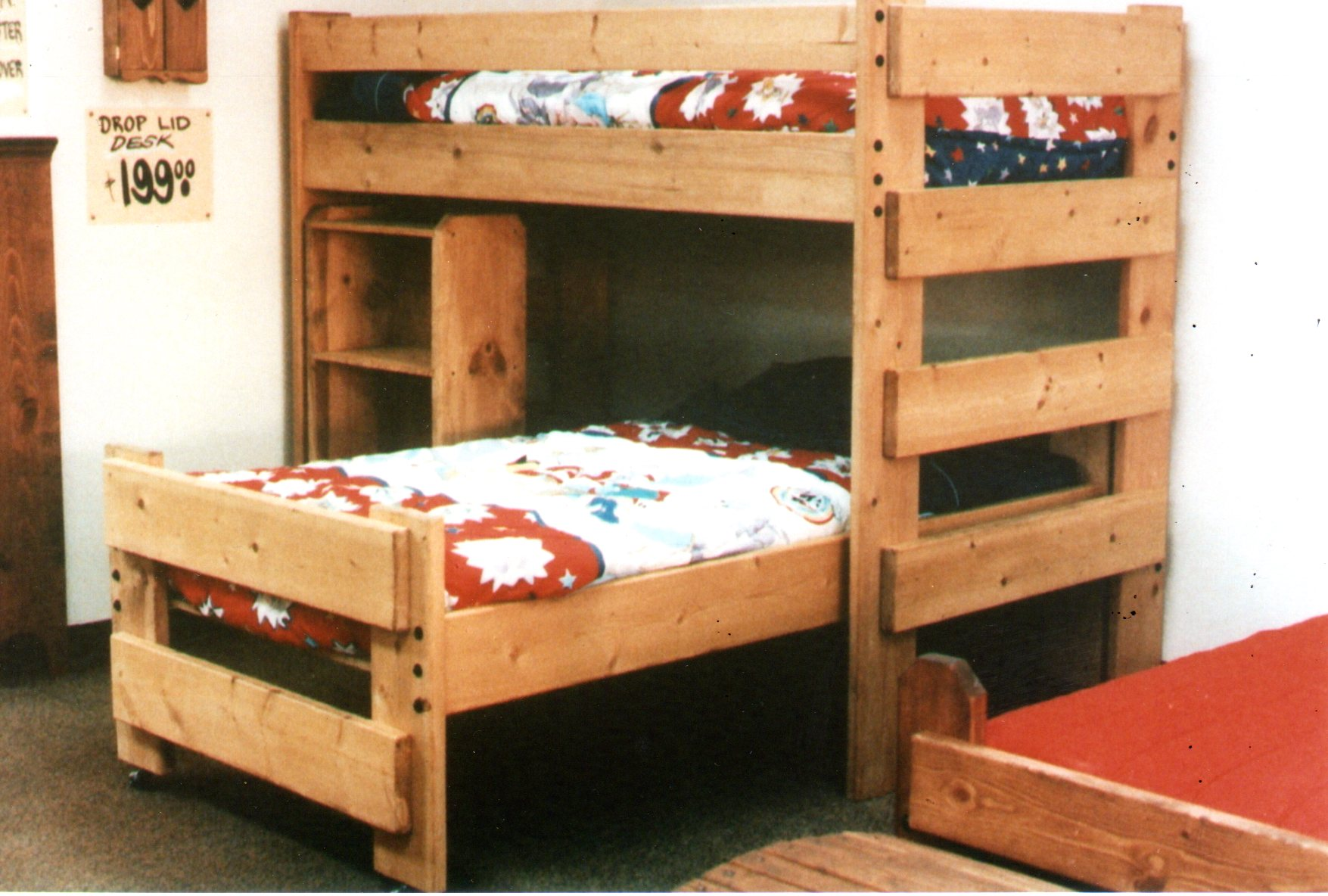 L Formed Loft Bunk Beds Convertable Bunk Bed. Princess Paul Bunyan RuffRider